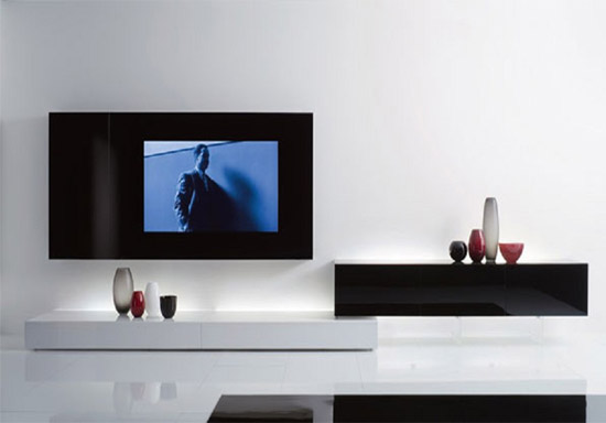 Ideal hi-tech TV cabinet by Acerbis