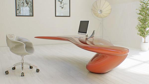 The Sculptural Volna Table by Nüvist
