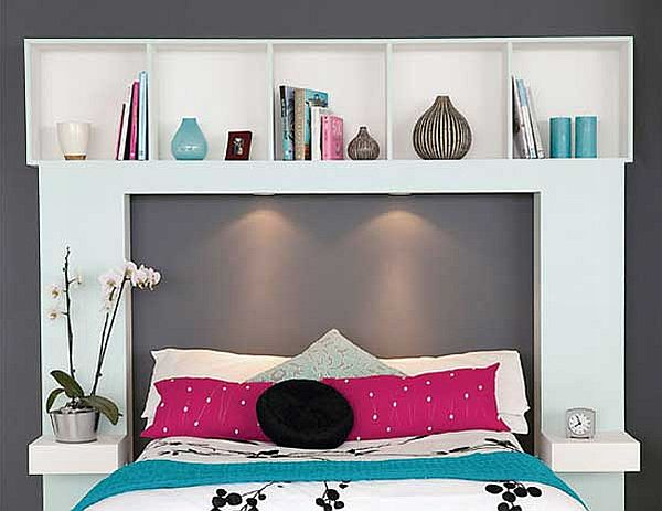 Bed Headboard Bookshelf