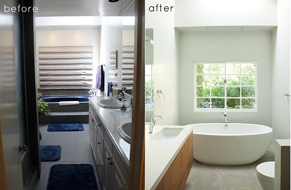 5 inspiring bathroom makeovers with diy appeal Cheap bathroom remodel before and after