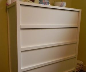 Colorful IKEA dresser makeover by O'verlays