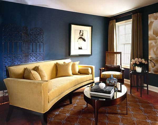 view - Blue Color Living Room Designs