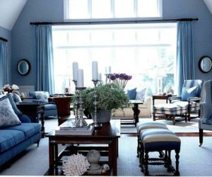 ... 20 Blue Living Room Design Ideas