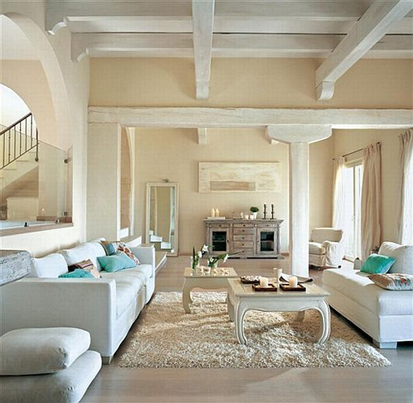 ... Living Room Featuring Floral Accents The ...