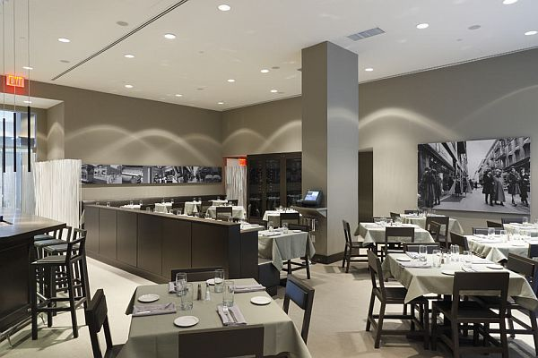 The italian touch of caf b from new york for Italian cafe interior design ideas