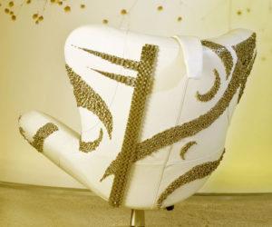 The Natuzzi Sound Chair now with Swarovski crystals