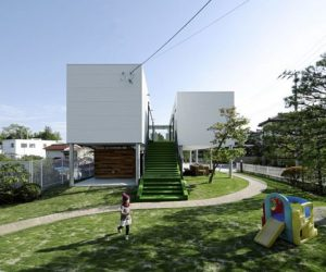 Floating contemporary residence in Fukushima