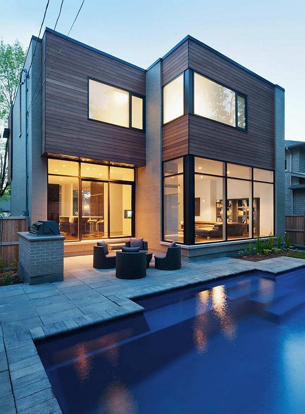 The modern fraser residence in ottawa for Modern house design ottawa