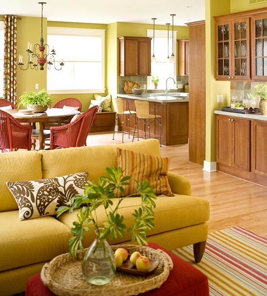 20 Modern Kitchens Decorated In Yellow And Green Colors: 15 Green Living Room Design Ideas