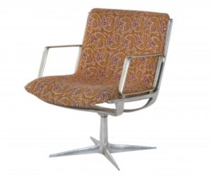 Vintage Aluminum Swivel Chair