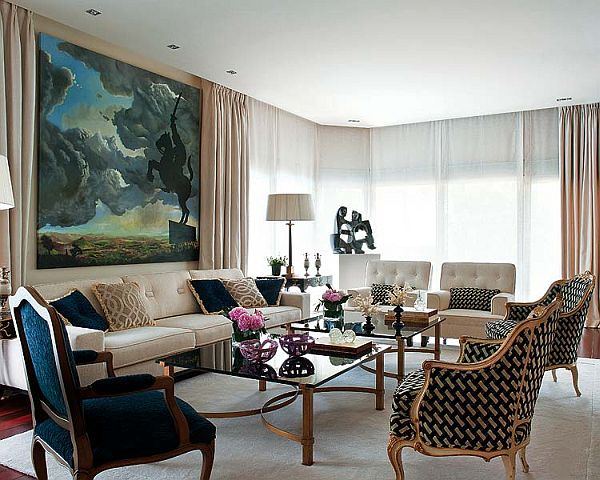 Classic elegance interior design by javier castillo for Elegant interior design