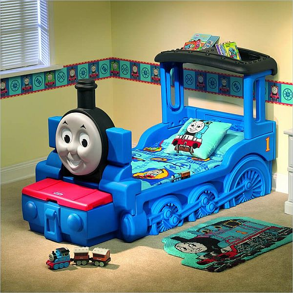 friendly Thomas & Friends train bed for kids