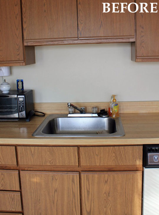 Before and after: Dana & Ryan\'s Galley Kitchen Makeover