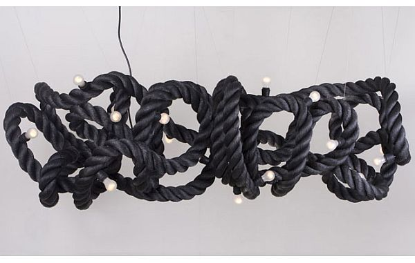 25 diy ways of using rope for a vintage look another rope pendant model aloadofball Gallery