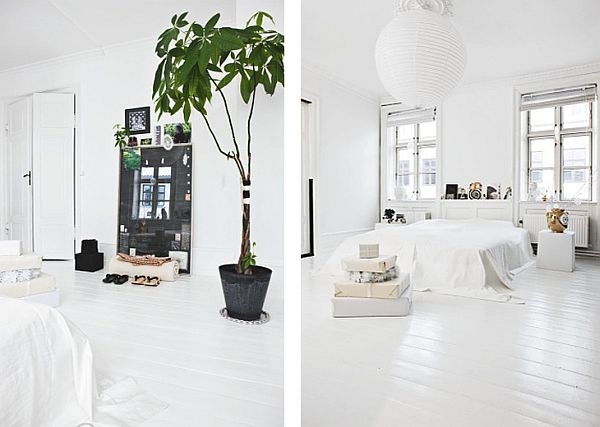 wooden attic ideas - Stylish black and white Scandinavian interior
