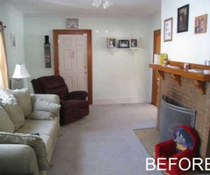 Stylish living room transformation