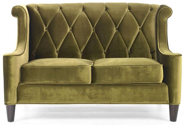 a modern green velvet loveseat. Black Bedroom Furniture Sets. Home Design Ideas