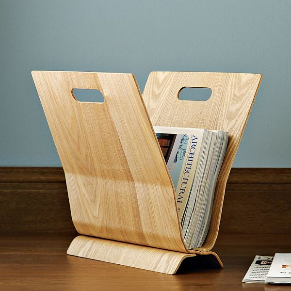 Simple And Stylish Wood Magazine Holder