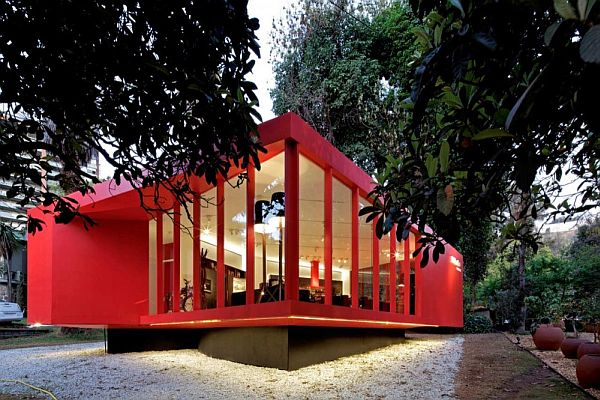 The Red Miele Light Box Pavilion