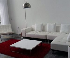 The elegant White Phantom sectional sofa