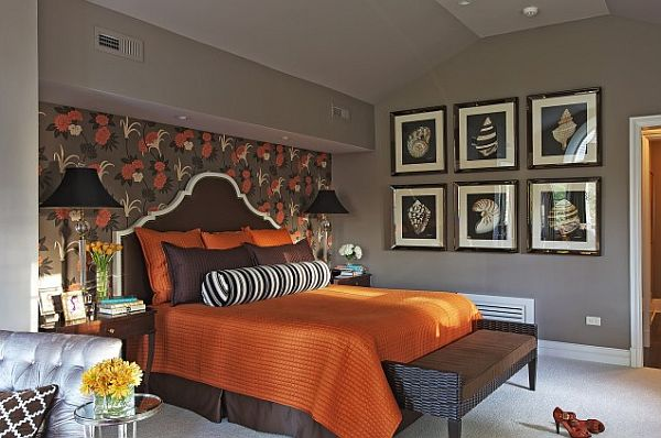 Bedroom Designs Orange And Brown what colors work well with brown in the bedroom