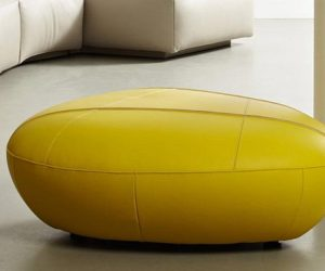 The compact Piatra footstool by Norbert Beck