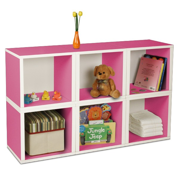 storage pink cubes for the kids room
