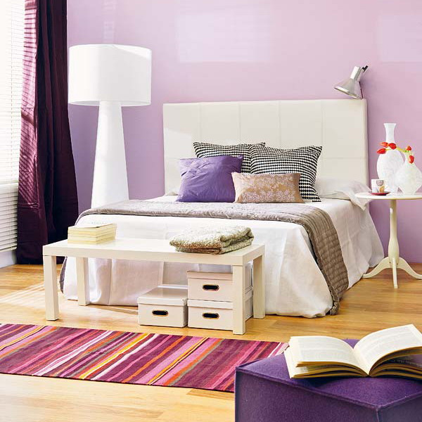 purple and white bedroom ideas