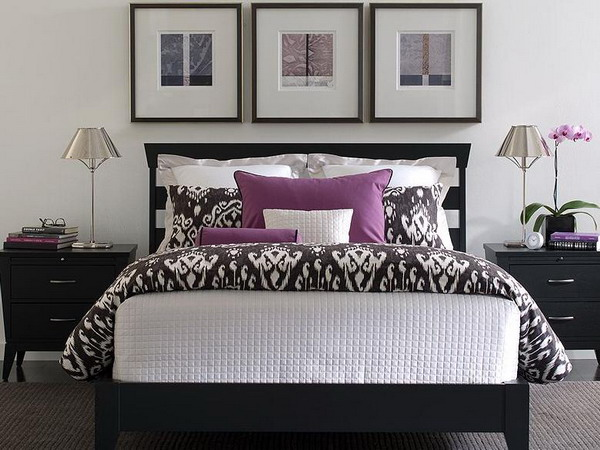 black white and purple bedroom ideas purple and white bedroom combination ideas 20374