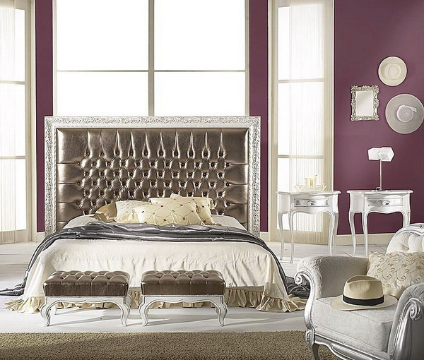 purple and white bedroom bination ideas