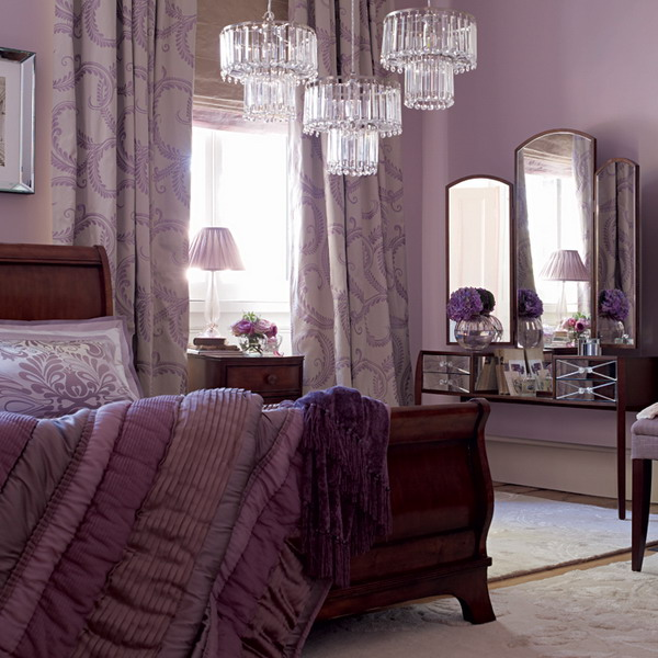 ideas for purple bedrooms purple and white bedroom combination ideas 15598