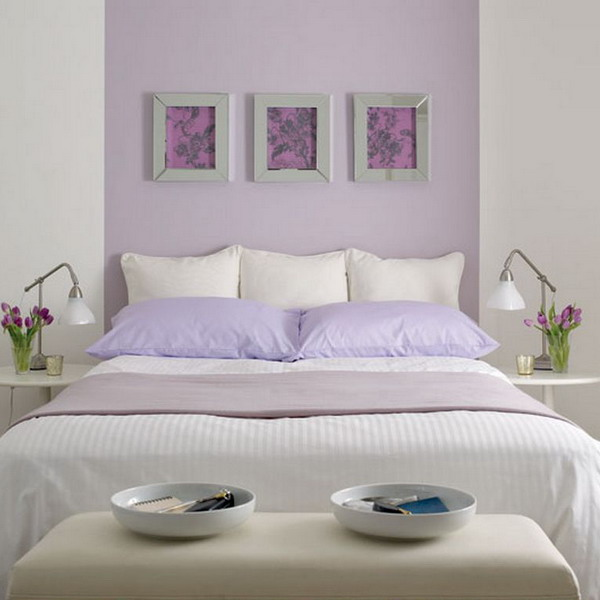 View in gallery. Purple and white bedroom combination ideas