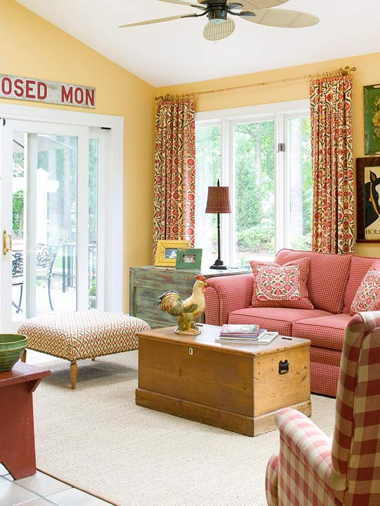 15 red living room design ideas for Red room design ideas