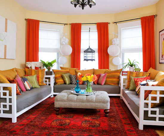 15 Red living room design ideas