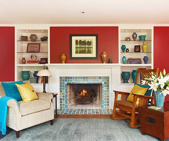 15 Red Living Room Design Ideas Part 55