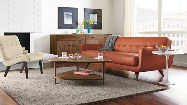 The Pumpkin Color Anson Sofa Good Ideas