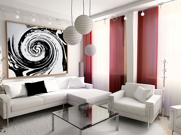 Modern Living Room Red And Black 15 red living room design ideas
