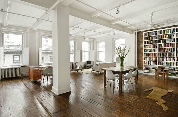 extraordinary new york loft living room | Spacious New York loft for sale