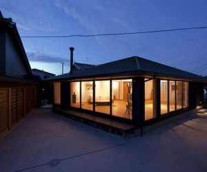 A house designed for a young couple with Japanese characteristics