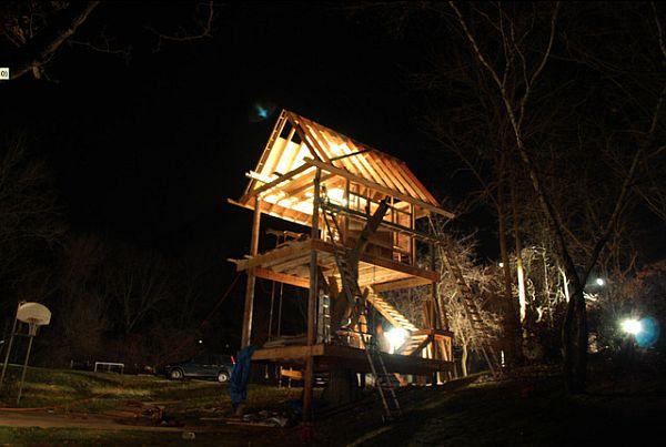 Tree House In Camp Wandawega.