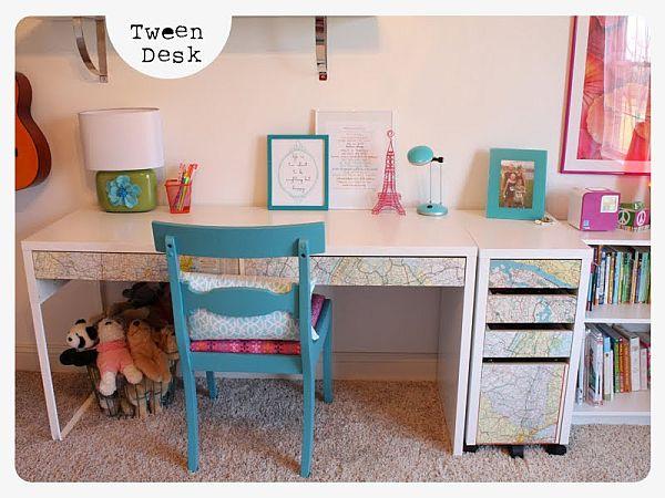 tween desk collage