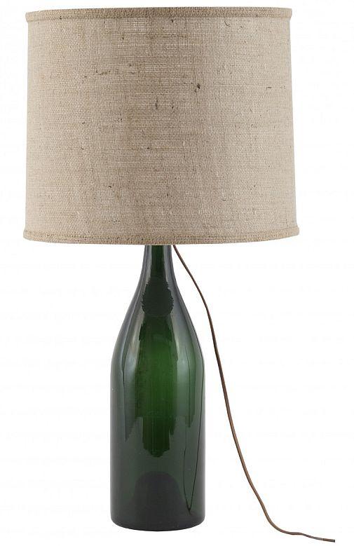 Vintage magnum bottle lamp