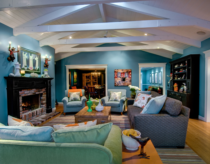 Colorful And Warm Home By Viscusi Elson Interior Design