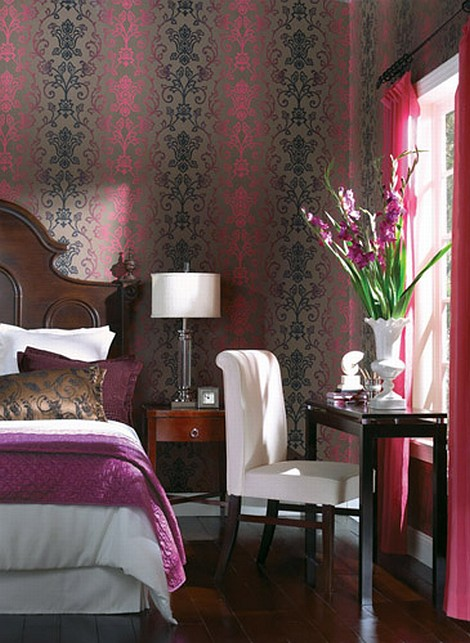 wallpaper ideas for decorating walls5 Victorian Wallpaper With a Twist! Eight Great Feature Wallpaper Ideas