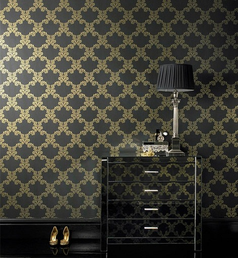 wallpaper ideas for decorating walls6 Victorian Wallpaper With a Twist! Eight Great Feature Wallpaper Ideas