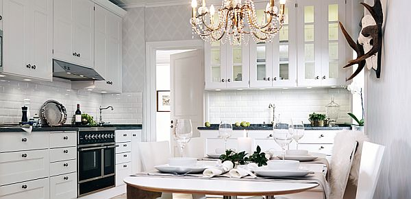 Although We Refer To A Modern Or A Classic Kitchen White Seems To Be A  Perfect Nuance For A Kitchen. White Will Make The Kitchen Look More  Spacious Or Even ...