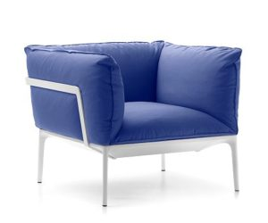 The YALE easy chair down version by Jean-Marie Massaud