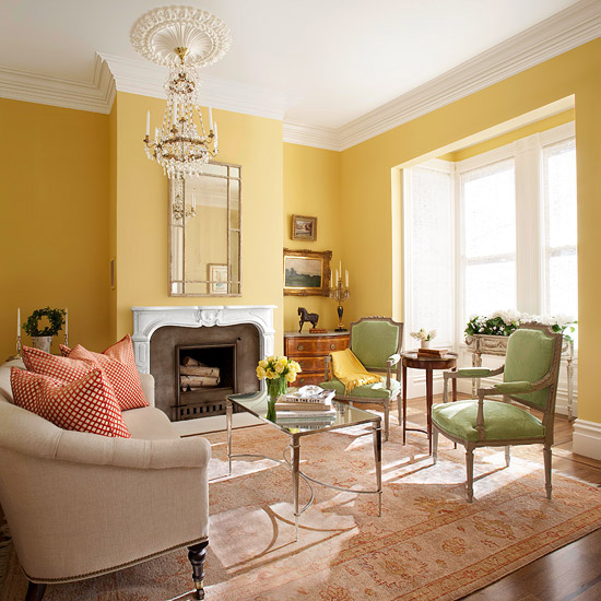 Yellow wall color living room yellow living room design
