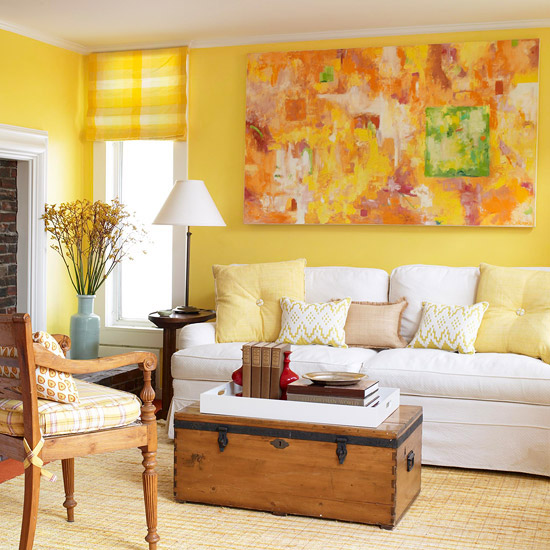Yellow Living Room Design Ideas