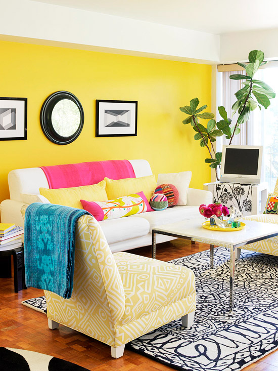 Yellow living room5